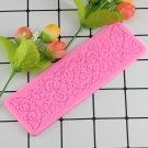 1 Pcs Lace Mat Fondant Flowers Cake Decoration Silicone Mold Surafcraft Chocolate Candy Moulds
