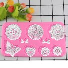 1 Pcs Lace Mat Fondant Cake Wedding Flower Butterfly Heart Bow Embossing Chocolate Mould