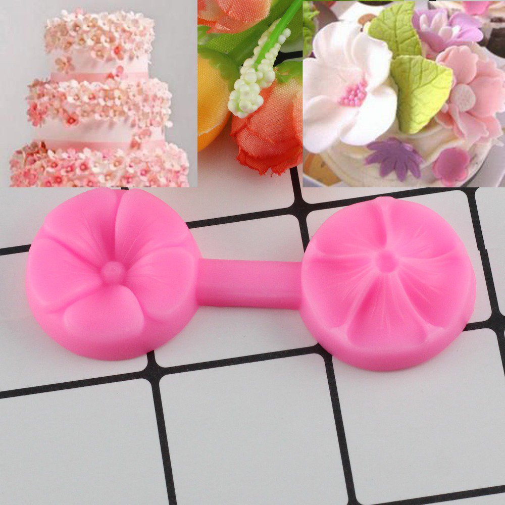 1 Pcs Confectionery Sugar Paste 3D Cherry Cake Mold Silicone Molds Kitchen Baking Moulds