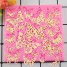 1 Pcs DIY Butterfly Shape Silicone Lace Mat Cupcake Fondant Molds Gumpaste Chocolate Moulds