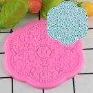 1 Pcs DIY Sugar Craft Silicone Lace Mat Fondant Mould Cake Decorating Tools Candy Moulds