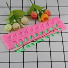 1 Pcs Long Strip Lace Tree Leaf Silicone Molds Chocolate Wedding Cake Decorating Mould