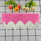 1 Pcs Lace Flower Wavy Shape Silicone Fandont Molds Birthday Cake Border Decorating Moulds