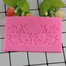 1 Pcs Leaf Flower Vine Lace Silicone Molds Fondant Cake Border Decorating Tools Moulds