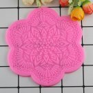 1 Pcs Cake Border Decoration Silicone Mat Flower Pattern Sugar Craft Fondant Cake Moulds