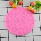 1 Pcs Round Snowflake Silicone Mold Cake Mat Lace Fondant Molds Cupcake Sugar Moulds