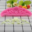 1 Pcs DIY Flower Lace Silicone Mat Relief Cake Border Decorating Fondant Molds Sugarcraft Mould