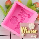 1 Pcs 3D Christmas Decorations Snowflake Chocolate Party DIY Fondant Baking Cooking Cake Mould
