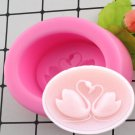 1 Pcs Cute Swan Form Silicone Fondant Soap 3D Cake Mold Cupcake Jelly Candy Chocolate Mould