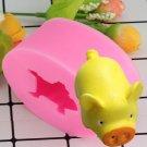 1 Pcs 3D Silicone Cake Mold Pig Shape Handmade Fondant Soap Mould For Decorating