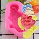 1 Pcs 3D Marine Life Fish Mould DIY Fondant Silicone Molds Kitchen Cake Decoration Mould