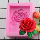 1 Pcs 3D Rose Chocolate Mold Fondant Cake Decorating Tools Silicone Soap Mold Silicone Cake Mold