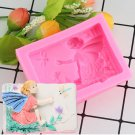 1 Pcs 3D Angel Shape Sugarcraft Cake Silicone Fondant Mold Candle Fimo Clay Silicone Cake Moulds