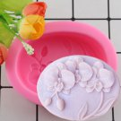 1 Pcs Flower Bloom Orchid Shape Silicone Soap Molds 3D Cake Fondant Molds Cupcake Jelly Candy Moulds