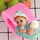 1 Pcs Baby Design Soap Mold 3D Silicone Mold For Soap Food Grade Silicone Molds For Decorating