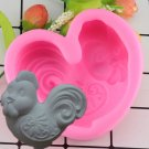 1 Pcs DIY Cock Chicken Silicone Molds Sugar Paste Candy Chocolate Mold Fondant Cake Mould