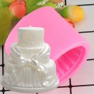 1 Pcs Cake Shape Silicone Soap Mold Form Chocolate Cake Mold Handmade Diy Cake Fondant Mould