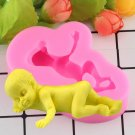 1 Pcs 3D Sleep Baby Handmade Soap Mold Chocolate Cake Decorating Cookies Fondant Silicone Mould