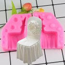 1 Pcs Baking Sugarcraft Silicone Mold Fondant Decorating Tool Gum Psate Wedding Chair Cake Mould