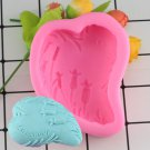 1 Pcs Lavender Craft Art Silicone Soap Mold DIY Resin Clay Candle Molds Fondant Cake Molds Mould