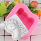 1 Pcs Cold Soap Candle Silicone Mold DIY Baby Ankle Handmade Soap Cake Decoration Silicone Mold