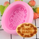 1 Pcs Hand Made Round DIY Silicone Mold Soap Mold Form Mould Fondant Cake Decorating Mold