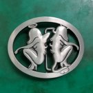 1 Pcs Double Monkey Cowboy Belt Buckle For 4cm Width Belt