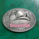 1 Pcs Oval Cowgirl Up Hat Western Cowboy Belt Buckle For Men/Women