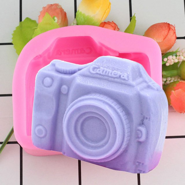 1 Pcs Camera Fondant Cake Fondant Molds Silicone Cake Mould Fondant Cake Decorating Mould