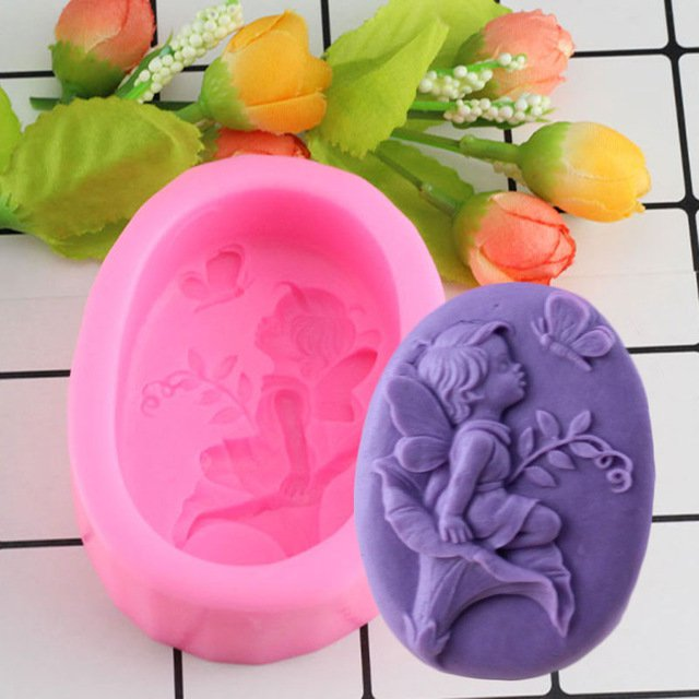 1 Pcs Angel Baby Pink Silicone Mold Chocolate Candy Molds Fondant Cake Decorating Mould