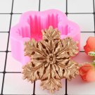 1 Pcs Snowflake Christmas Decoration Silicone Soap Mold DIY Hand Craft Candy Chocolate Mould