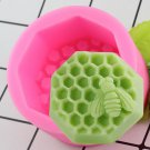 1 Pcs Honeycomb Silicone Soap Mold Resin Clay Candle Molds Cupcake Baking Mould