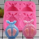 1 Pcs 3D Baby Gift Bags Candle Silicone Soap Mold Baby Party Fondant Cake Decorating Mould