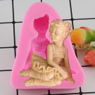 1 Pcs Angel Girl Ballet Dancer Silicone Fondant Soap 3D Cake Mold Candy Chocolate Mould