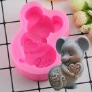 1 Pcs 3D Craft Zodiac Mouse Soap Silicone Mold Mousse Cake Baking Molds Fondant Cake Mould