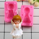 1 Pcs 3D Angel Girl Soap Silicone Mold Resin Clay Candle Molds Baby Party Fondant Cake Mould