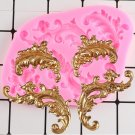 1 Pcs Baroque Scroll Relief Cake Border Silicone Molds Fondant Cake Decorating Mould
