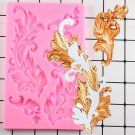 1 Pcs Baroque Scroll Relief Fondant Cake Decorating Tools Cake Border Silicone Molds Mould