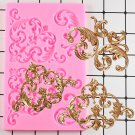 1 Pcs Baroque Scroll Relief Fondant Cake Decorating Tools Cake Border Silicone Mould