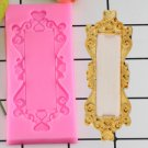 1 Pcs Picture Frame Silicone Mold Fondant Mold Cake Decorating Tools Chocolate Kitchen Gumpaste Mold