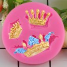 1 Pcs 3D Silicone Mold Crowns Cake from Princess Queen Fondant Cake Cupcake Cake Mould