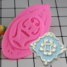 1 Pcs European Lace Embossed Silicone Mold DIY Fondant Cake Mold Fondant Chocolate Soap Mould