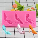 1 Pcs 3D Silicone Stiletto High Heel Mold Lady Wedding Fondant Cake Decoration Mold Cupcake Mould