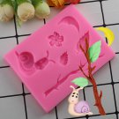 1 Pcs Snail Branches Cake Border Silicone Mold Cupcake Fondant Decorating Tools Chocolate Mould