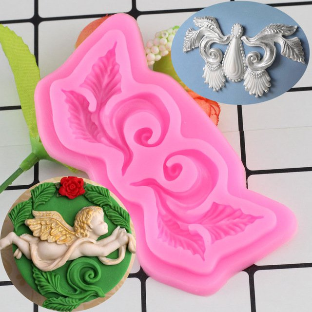 1 Pcs Chocolate Gumpaste Mold Cake Decorating Tools Border European Relief Silicone Mould