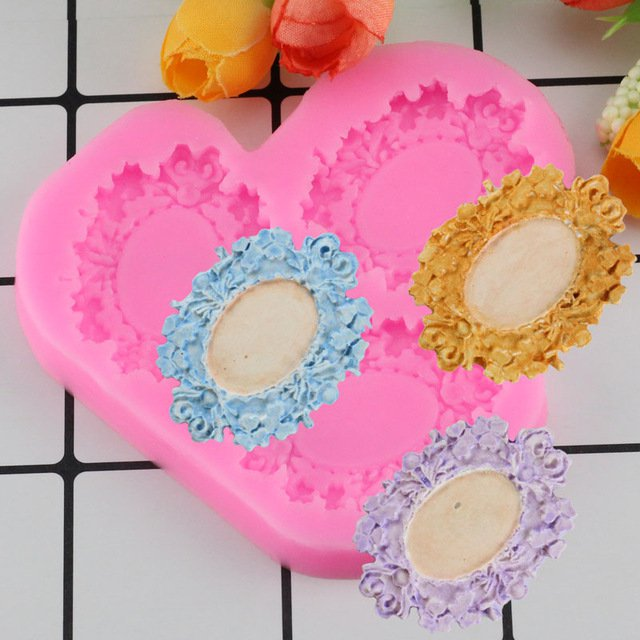1 Pcs Retro Fashion Frame Shape For Cake Decorating Tools Chocolate Mold For The Kitchen Mould