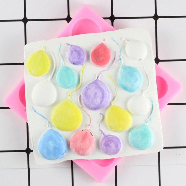 1 Pcs Balloon Shape Food Grade Silicone Soap Mold Chocolate Cake Silicone Cake Fondant Mould