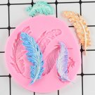 1 Pcs Feather Sugar Buttons Silicone Mold Fondant Mold Cake Decorating Tools Chocolate Mould