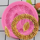 1 Pcs Rose Ring Leaves Silicone Mold Fondant Mold Cake Decorating Tools Chocolate Baking Mould