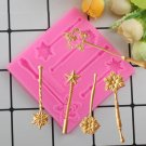 1 Pcs Sugarcraft Fairy Magic Silicone Cake Molds Baby Birthday Fondant Cake Decorating Mould
